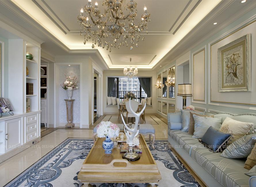 保利红珊瑚欧式 三居室家装效果图