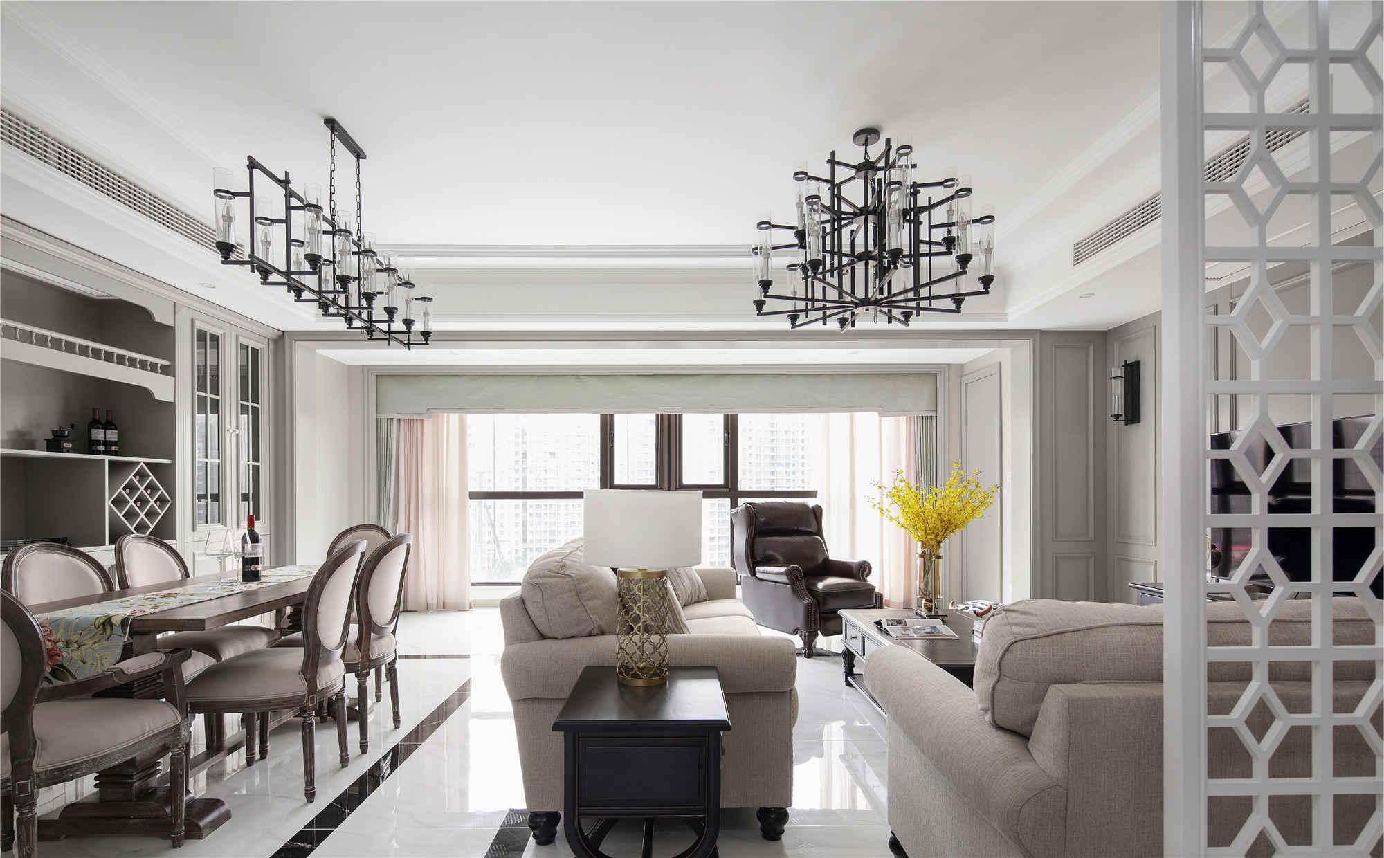 桃源漫步新中式风格五居室家装效果图