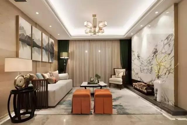 融信后海 三居新中式家装效果图