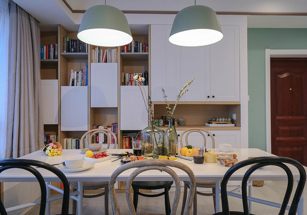 融信蓝孔雀-北欧风格-三居室装修效果图