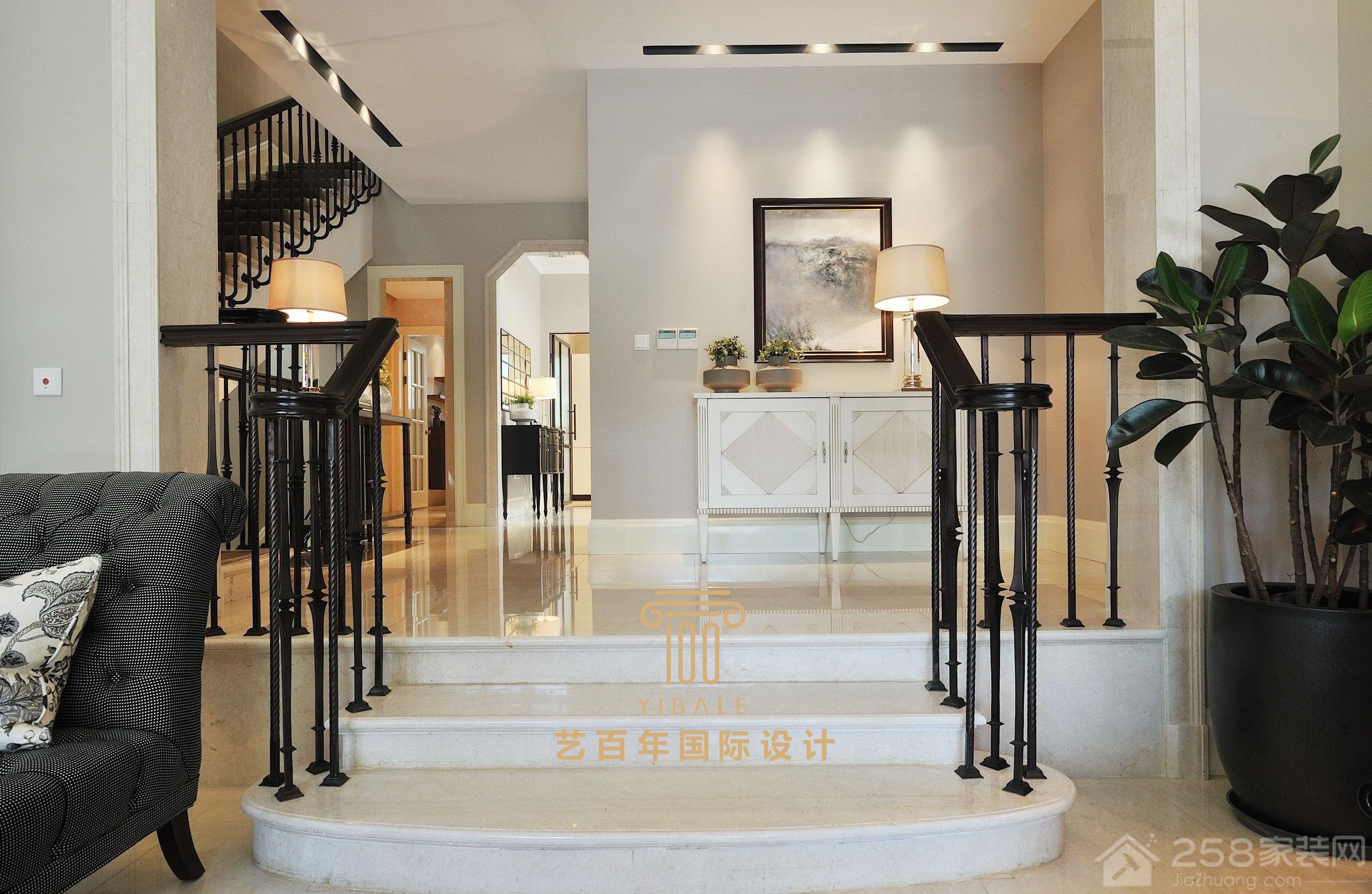悠山香庭 现代美式风格别墅家装效果图