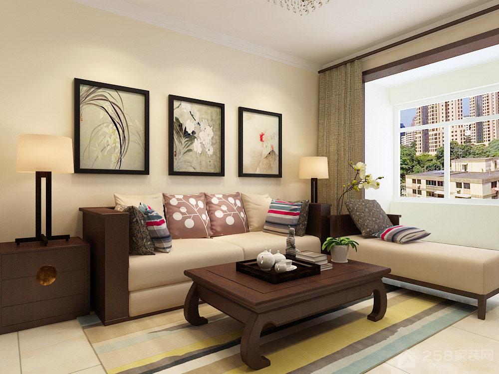 宏瑞星城90平三居室现代简约装修效果图