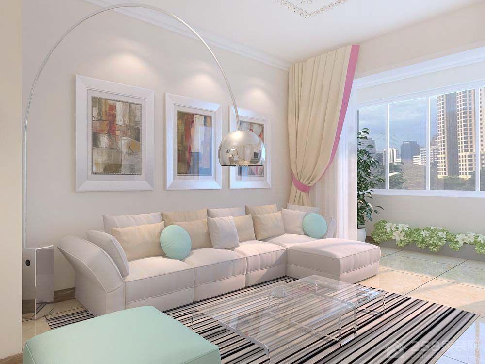宏瑞星城91平三居室现代简约装修效果图
