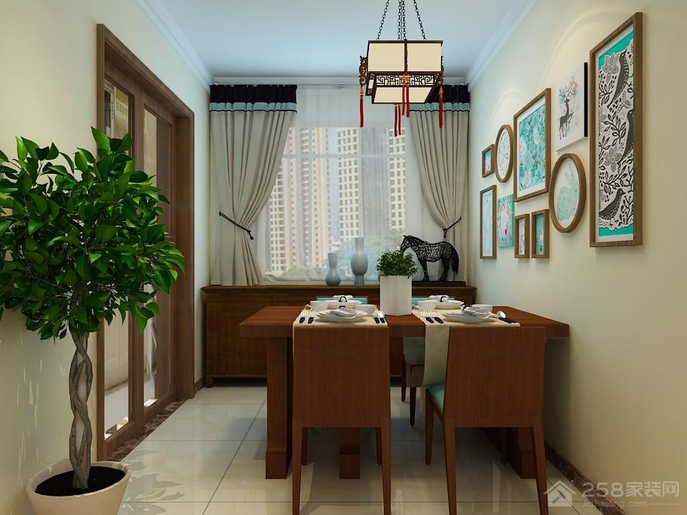 华山珑城109平中式三居装修效果图