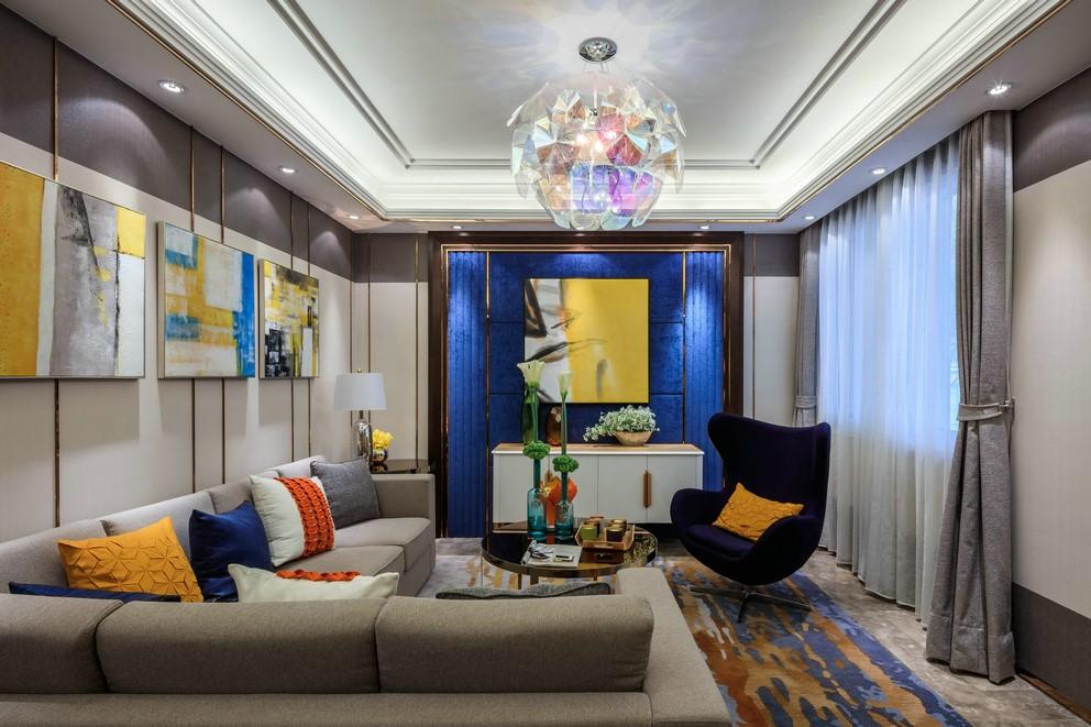 金地龙城中央现代简约四居家装效果图