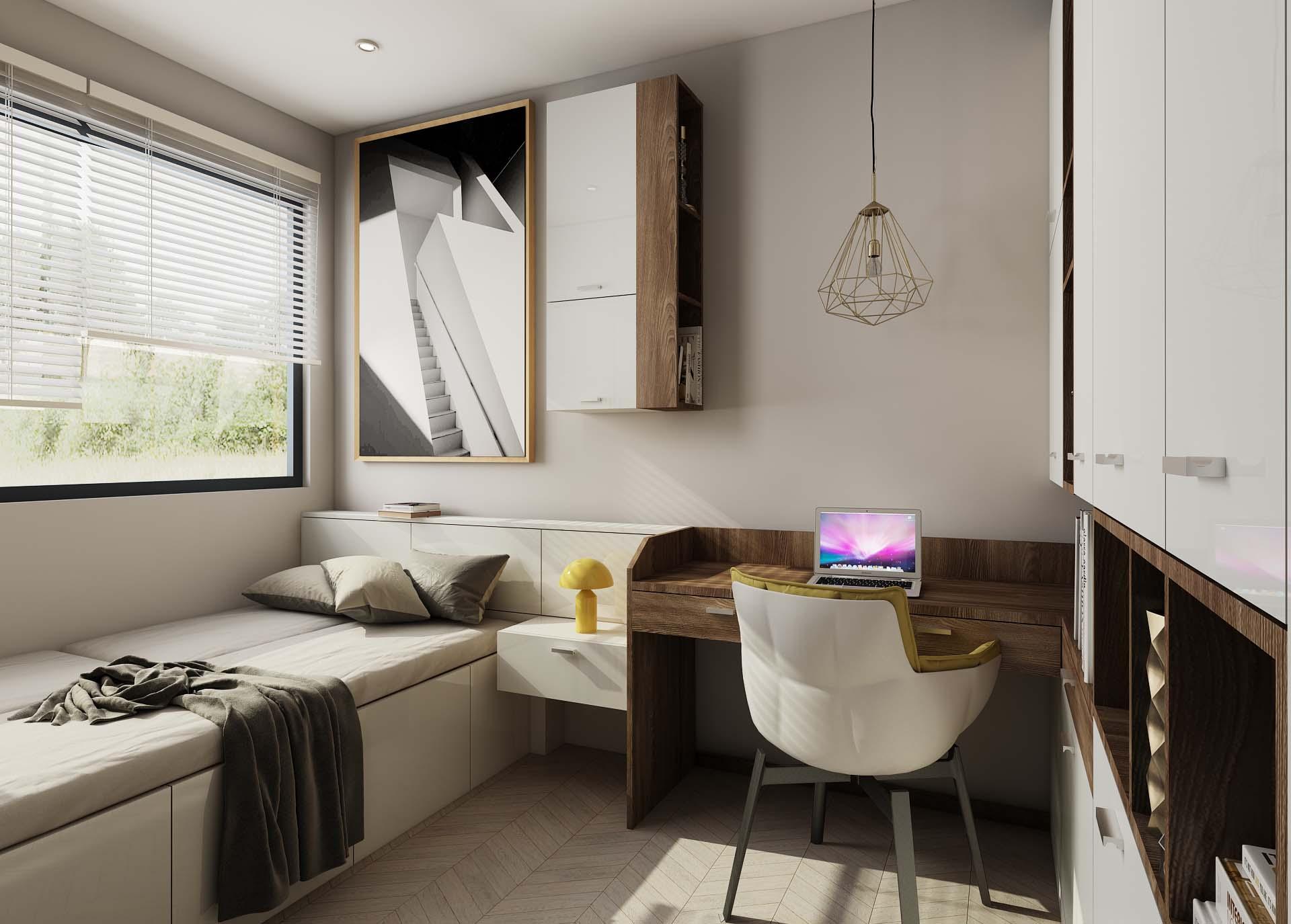 天都芳婷—两室一厅一卫现代简约装修效果图