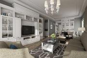 苏武公寓—三室两厅两卫简欧家装效果图