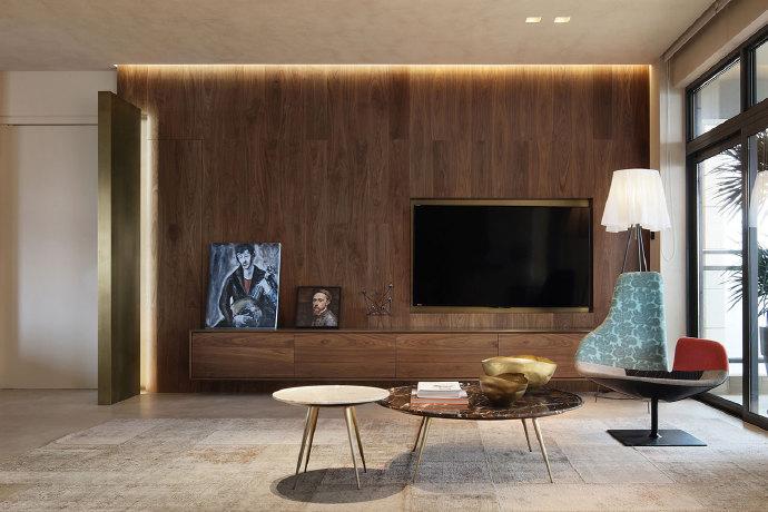 天朗御湖 后现代风格二居家装效果图