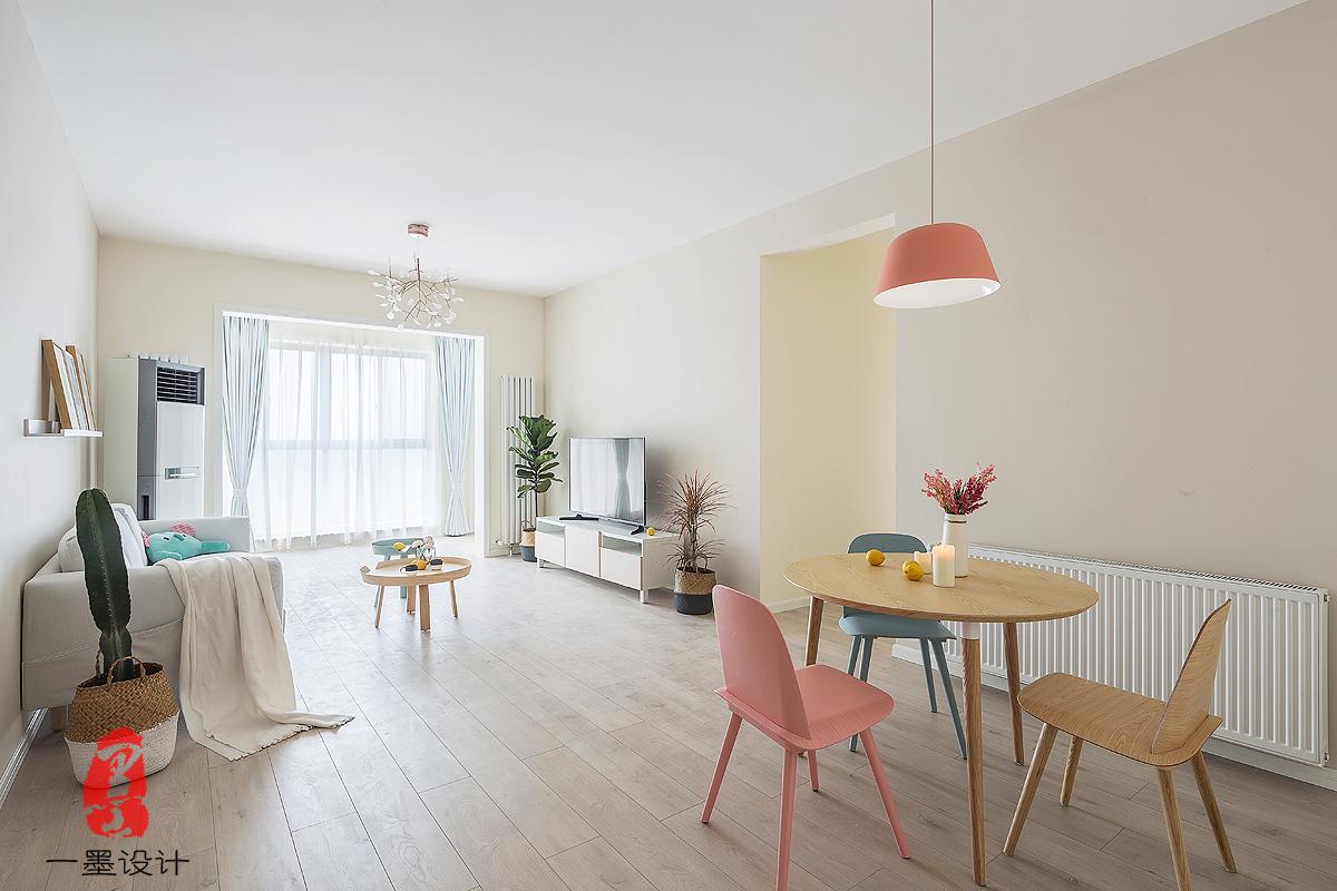 枫林雅都北欧极简美两居家装效果图