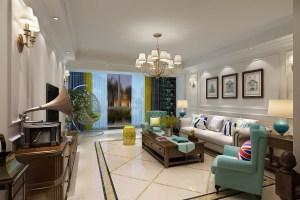 富士庄园150平 现代美式三居家装效果图