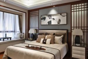 世贸香槟湖+K户型中式三居装修效果图