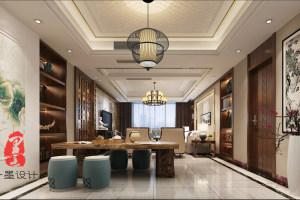 阳光龙庭240平新中式家装效果图
