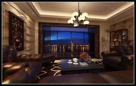 古龙御景中式风格三居家装效果图