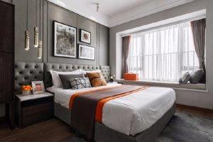 绿地城三居室现代风格家装效果图