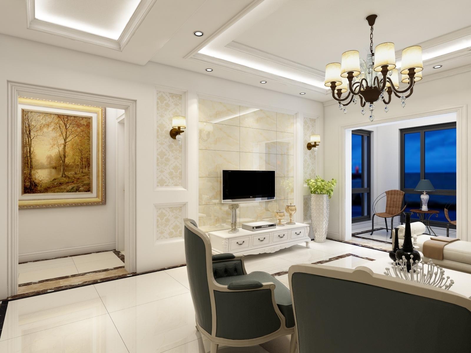 长兴星城三室两厅欧式家装效果图
