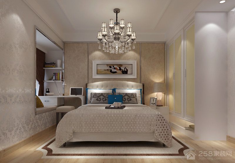 淘金正价国际公寓07户型现代简约二居家装效果图