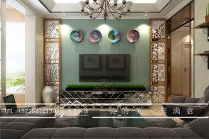 大瞾国际86平混搭二居装修效果图