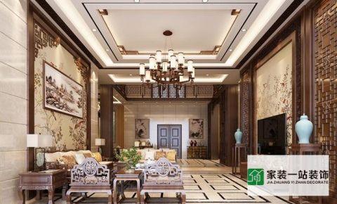 汇龙湾中式豪华别墅装修效果案例