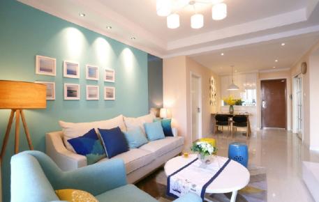 华远海蓝城89平米小两室现代简约装修效果图