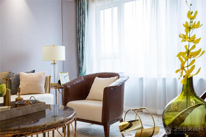 山居郦城100平现代简美风格三居家装效果图