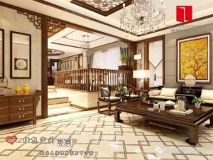 华山珑城《古韵》中式别墅家装效果图