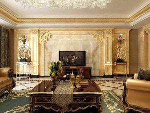 翠岛天成 古典欧式 三室两厅装修效果图