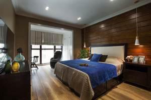 海沁小区美式混搭三居家装效果图