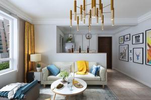 恒大御景二居室现代简约风格装修效果图
