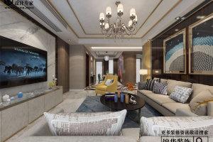 新湖明珠城150平现代风格家装效果图