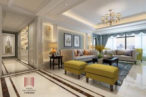 黄海明珠 四居室美式家装效果图
