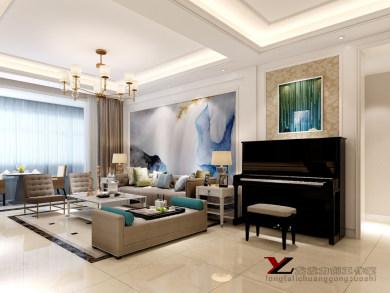 香榭兰庭160㎡三居室现代简约风格装修效果图