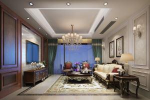 上府名园欧式风格三居室家装效果图