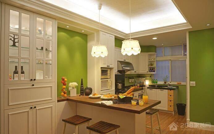 红杏花园美式113平三居室家装效果图