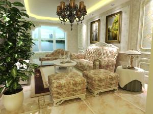 宣化-幸福家园三居室——简欧风格家装效果图