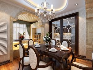 维多利亚 三室两厅一厨两卫一阳新中式风格装修效果图