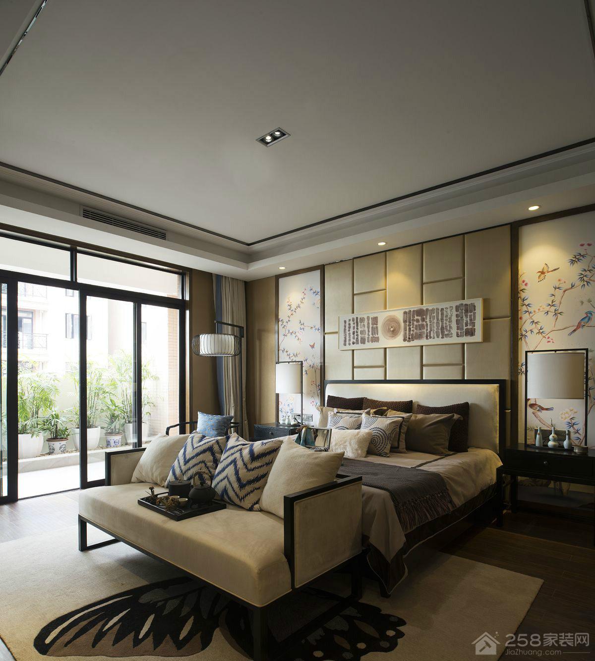 公园大地  新中式风格四居家装效果图