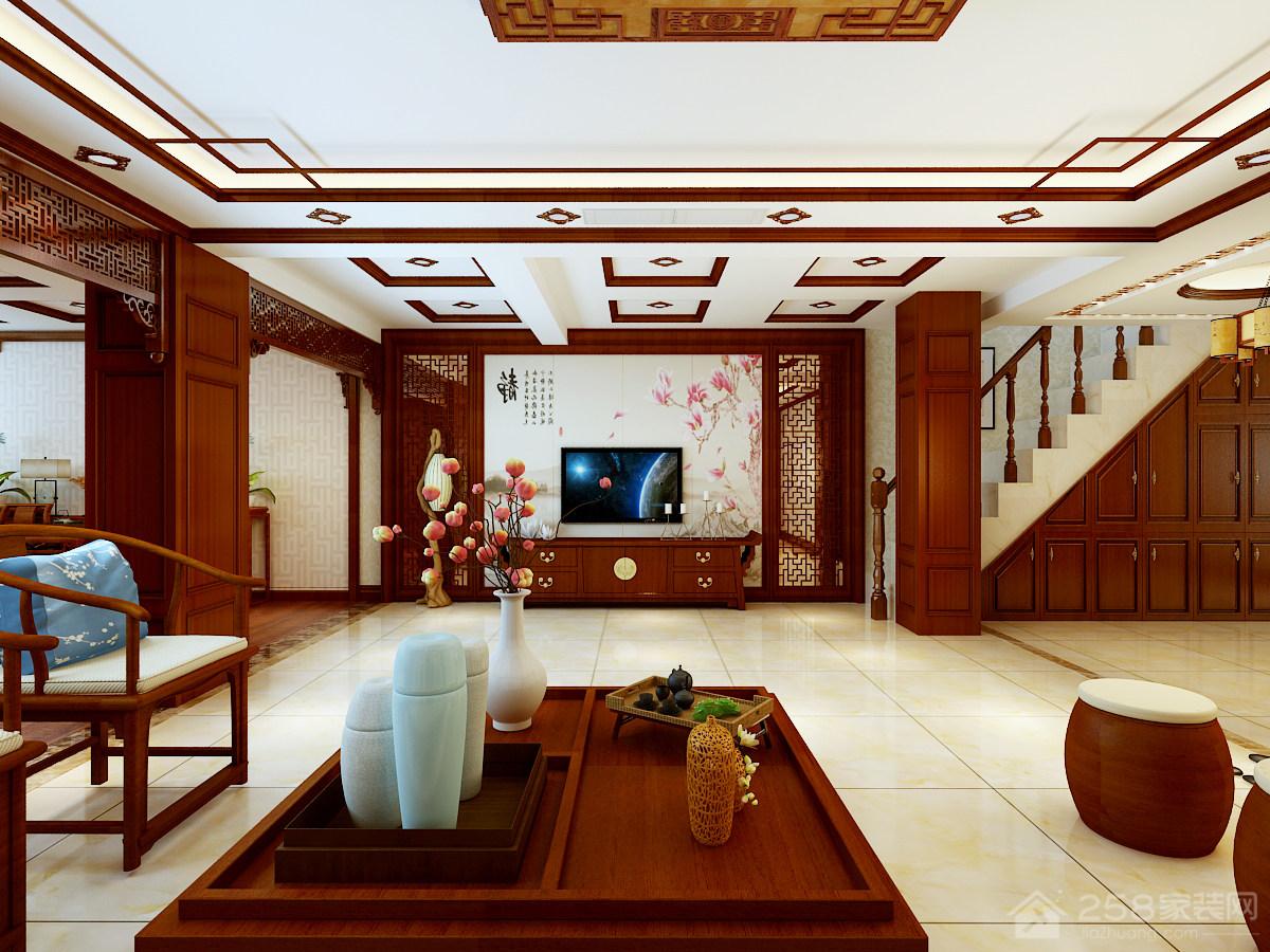 尊品庭院中式与欧式装修