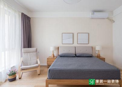 星城翠珑湾170平日式原木风小三室装修效果图