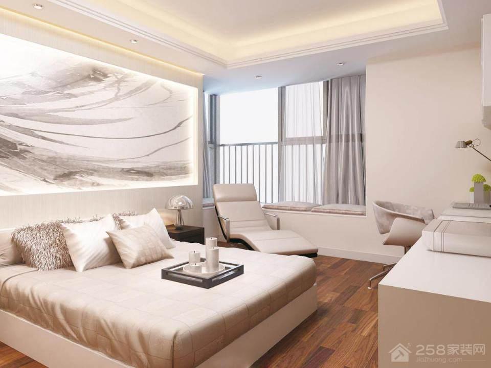 保利悦海湾B户型现代简约三居装修效果图