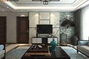 汤河铭筑125㎡中式三居装修效果图