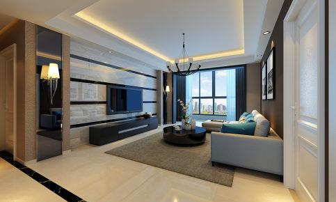 海伦国际3现代简约四居装修效果图