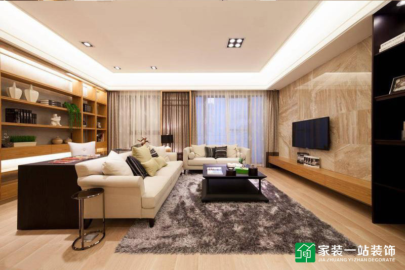 富迎公馆日式三居室装修效果图