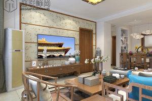 鲁能领秀公馆120平三居室中式装修效果图