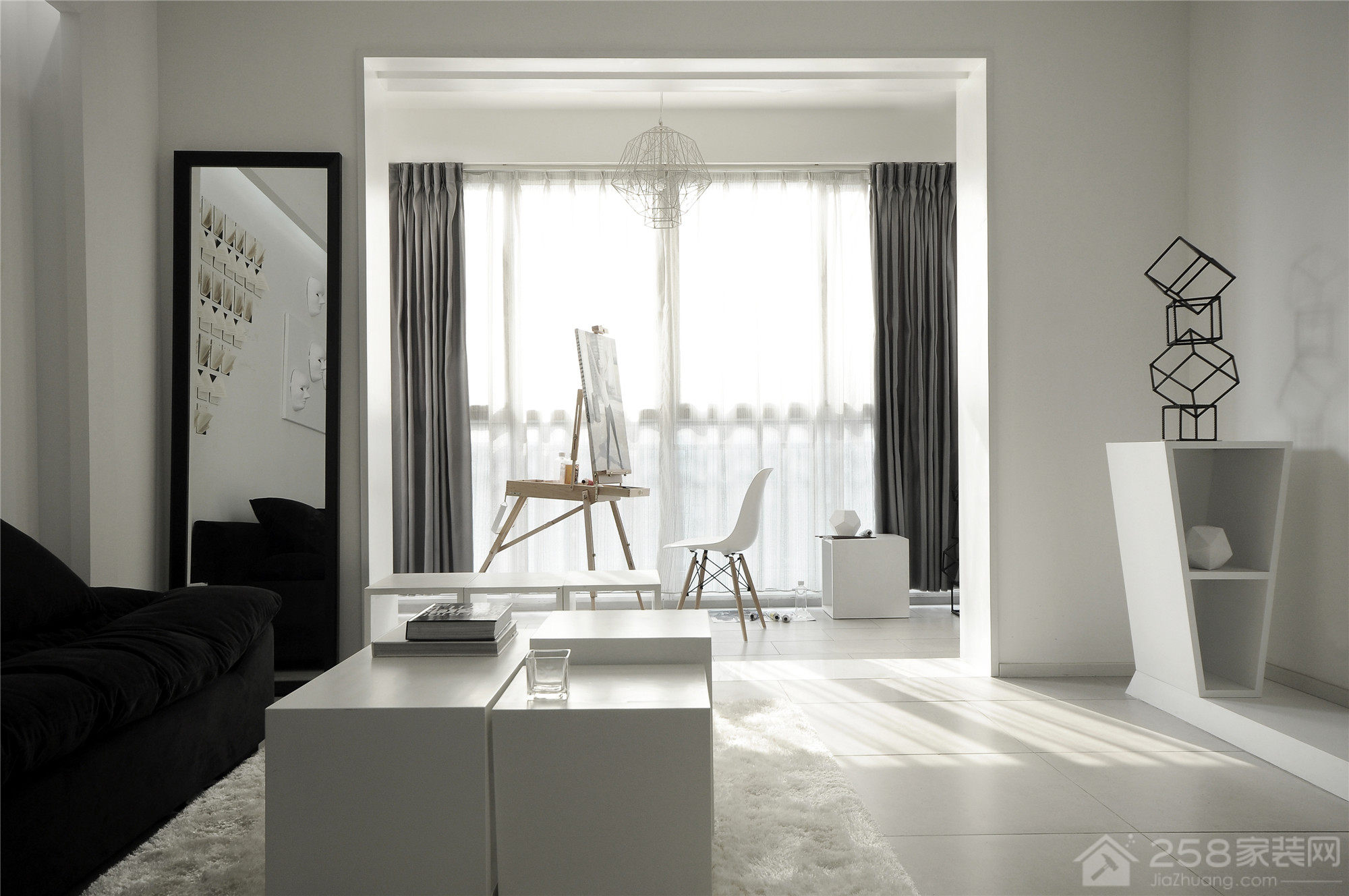 靓丽家园109平北欧三居家装效果图