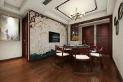 紫东南苑三居室中式风格装修效果图