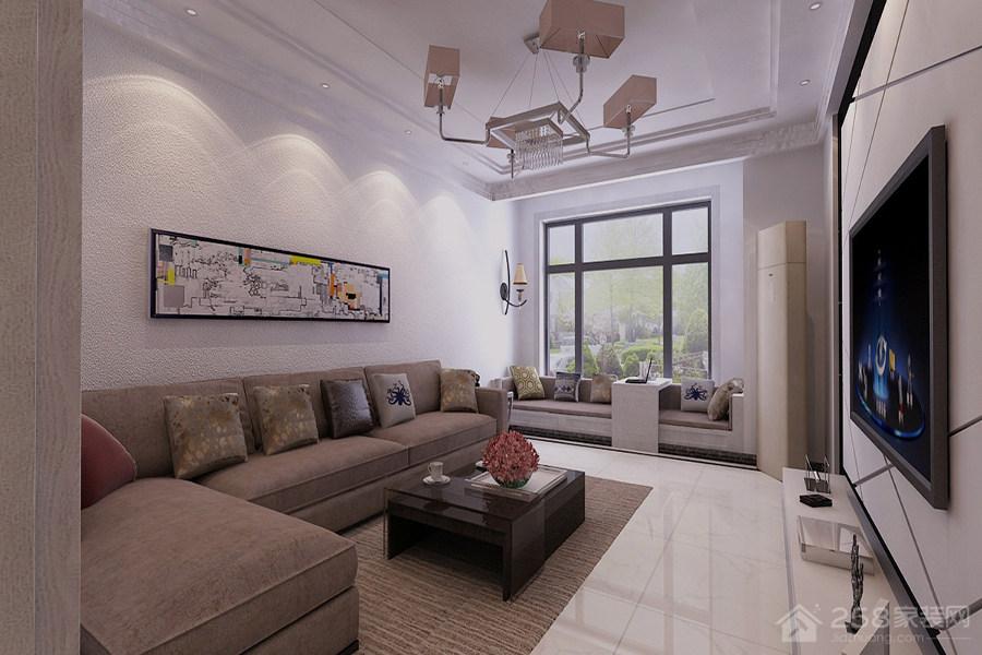 简约风格客厅设计实例装修效果图