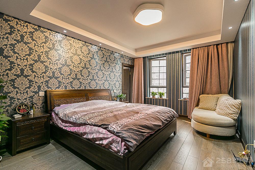 阳光郡-四居室-中式家装效果图