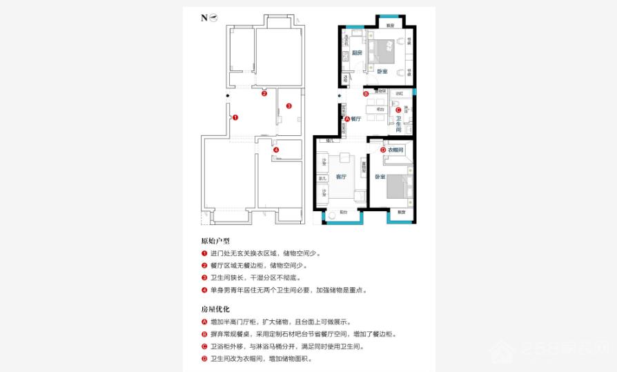 隆园现代简约三居装修效果图