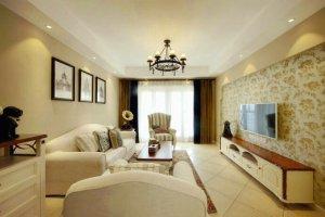 中圣绿苑123平 美式三居装修效果图