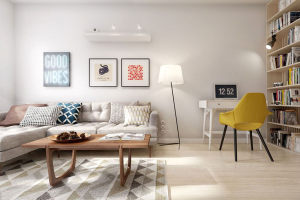 协信城立方北欧一居室装修效果图